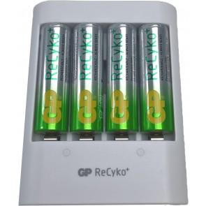 GP batterij snellader USB + 4 batterijen aa 2100 mAh