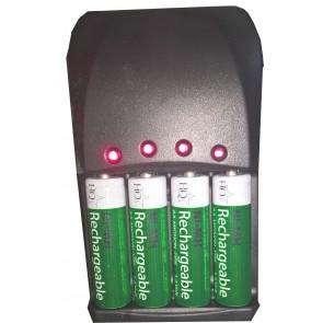 Mediarange 191 batterij snellader 4 kanaals + 4 batterijen