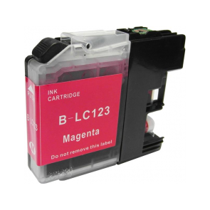 Brother LC-123M inktcartridge magenta + chip (huismerk)