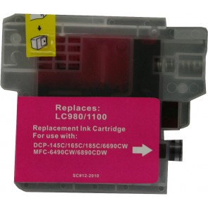Brother LC-980 /  LC-1100M inktcartridge magenta (huismerk)