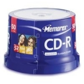 CD-R 52X Memorex 50 stuks