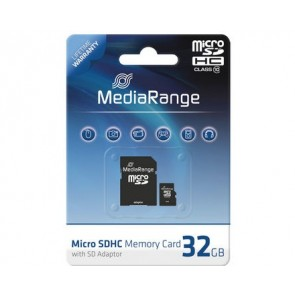 32GB Mediarange Micro SD / SD (met adapter) Class 10