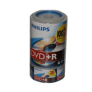 DVD+R 4.7GB 16X Philips 120 stuks