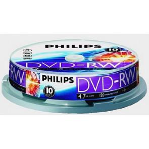 DVD-RW 4.7GB 2X Philips 10 stuks