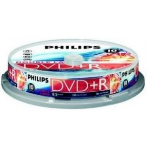 DVD+R 8.5GB 8X Philips double layer 10 stuks