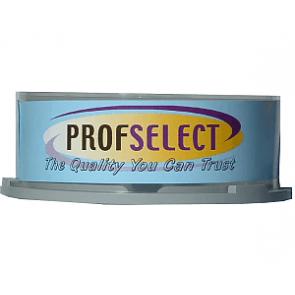 CD-R 100min 24X Profselect 25 stuks full wit inktjet printable