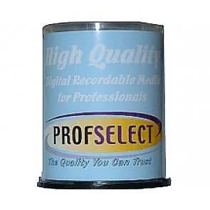 CD-R 80min 52X Profselect 100 stuks full wit inktjet printable