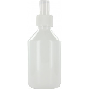 250 ml spray fles wit leeg met vinger verstuiver / spraykop (28mm)