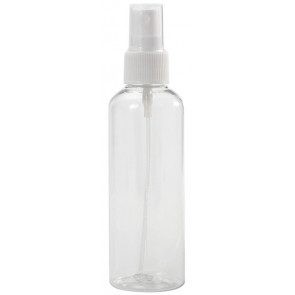100 ml transparante spray flesje met vinger verstuiver / spraykop (Boston model)