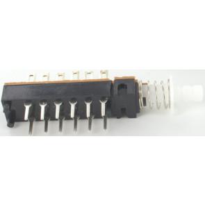 Schakelaar 12 pin self locking o.a. voor Eela audio mengpanelen