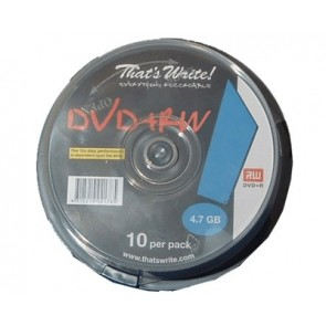DVD+RW 4.7GB 4X Thats Write 10 stuks