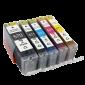 Canon CLI-571 / PGI-570 voordeelset + chip (huismerk)