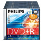 DVD+R 4.7GB 16X Philips Slim case 10 stuks