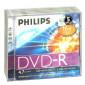 DVD-R 4.7GB 16X Philips 5 stuks in jewelcase
